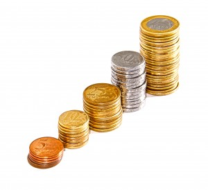 Pilhas de moedas